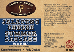 Jalapeno Cheese Summer Sausage