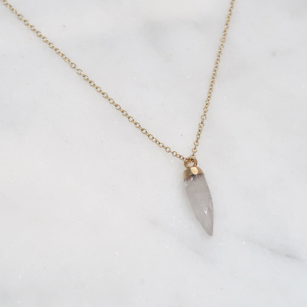GemPoint Necklace - Crystal Quartz