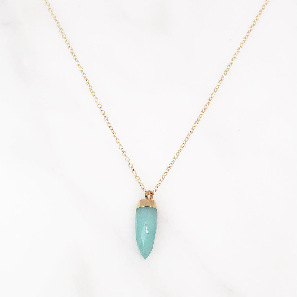 GemPoint Necklace - Amazonite Jade