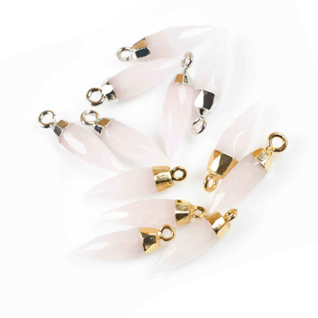 GemPoint Necklace - Rose Quartz