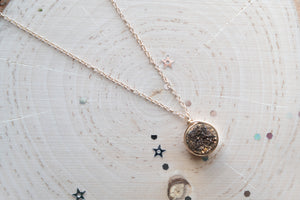 Druzy Round Necklace - Bronze