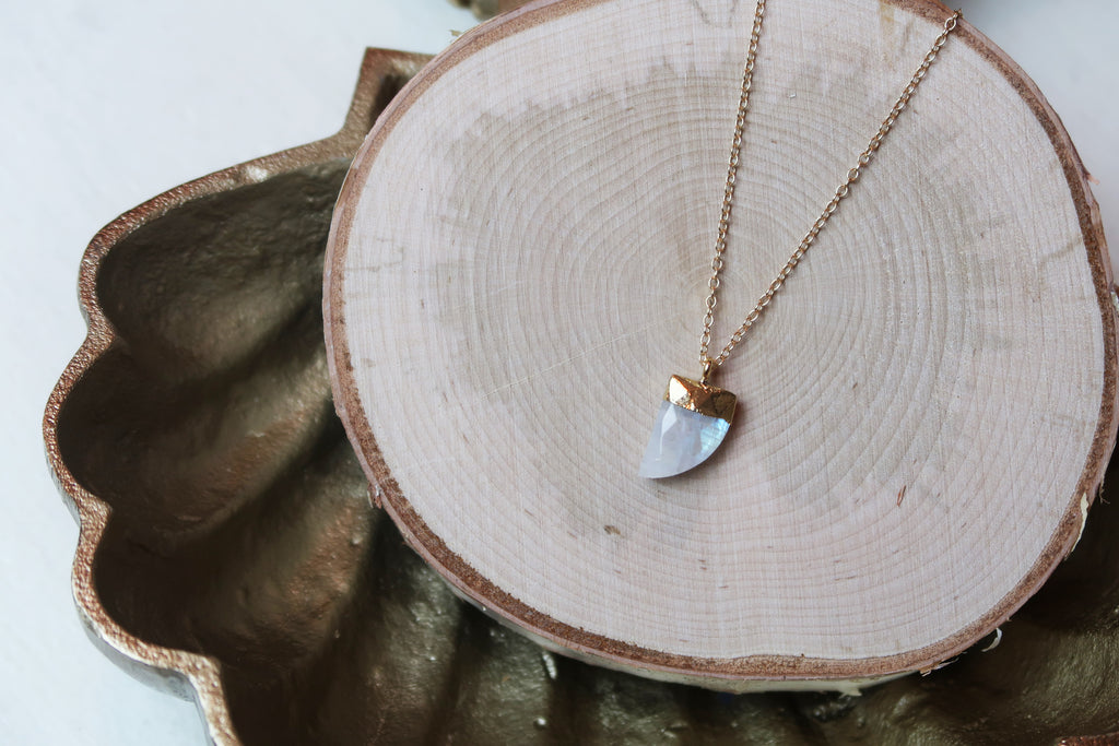 Horn Necklace - Moonstone
