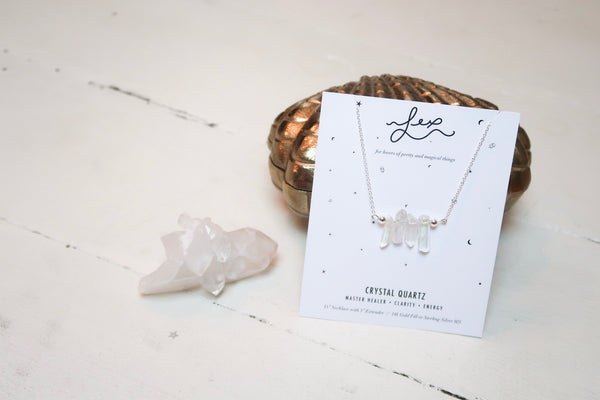 Spiked Crystal Quartz Necklace