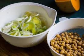 Leeks and Chickpeas with Lemon and Rosemary