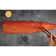 Load image into Gallery viewer, Sliced Whole Side of Salmon: 1.2kg Sashimi Grade Salmon