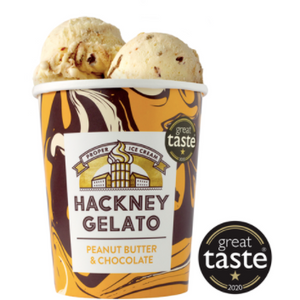 PEANUT BUTTER & CHOCOLATE: Hackney Gelato: COLLECTION ONLY