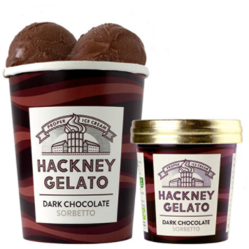 Dark Chocolate Sorbetto: Hackney Gelato: COLLECTION ONLY