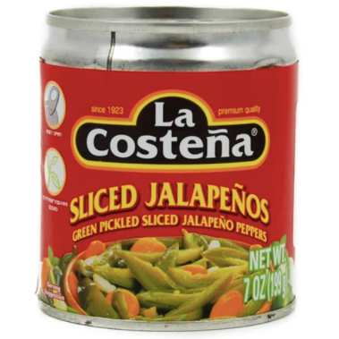 La Costena Sliced Green Jalapeno 198g