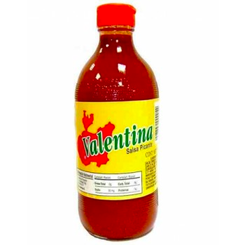 Valentina is known mostly for its taste as opposed to its heat. The taste can be described as a citrus flavor with a spicy after taste. It is often used on cucumbers and many varieties of fruit, such as watermelon, oranges, & pineapple, with lemon & salt. Valentina is very popular in Mexico, often on tortilla chips. It is also popular to mix with corn chips & lemon juice.