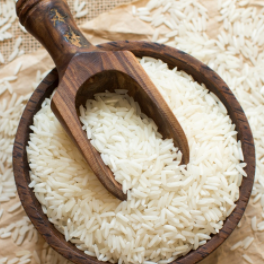 "Basmati is a fragrant, nutty-tasting long grain rice grown in the Himalayas and Pakistan. ""Bas"" in Hindi language means ""aroma"" and ""mati"" means ""full of,"" hence the word Basmati — or ""full of aroma."""
