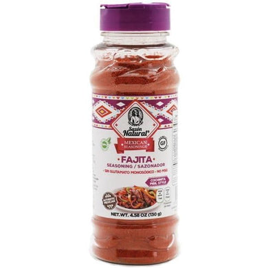 Mexican Fajita Seasoning (Sazón Natural) - classic, natural spice mix from Mexico for seasoning meat and vegetables for fajitas or cochinita pibil.  Sazón Natural is a 100% Mexican company that was founded by Paty Serrano in 2009, a housewife with a lot of experience in the kitchen who was looking to provide healthy food to her family. Not finding this alternative in the market, he decided to undertake an adventure with the creation of his seasonings.
