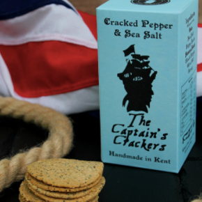 The Captain's Crackers (Cracked Pepper & Sea Salt) 120g