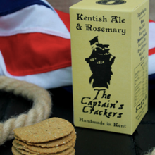 Load image into Gallery viewer, The Captain's Crackers (Kentish Ale & Rosemary) 120g