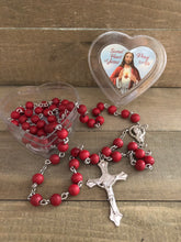 Load image into Gallery viewer, Rosary * Scared Heart Rose