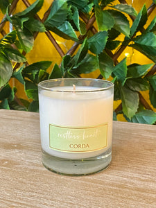 Corda Candle * RESTLESS HEART St. Augustine of Hippo | Pear + Fire