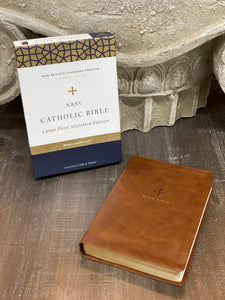 NRSV, Catholic Bible, Standard Large Print, Leathersoft, Brown, Comfort Print: Holy Bible