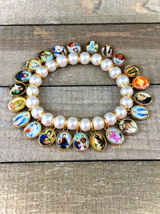 Bracelet - Pearl with Saints