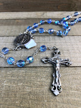 Load image into Gallery viewer, Rosary * Prayer Petition Locket/ Blue