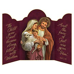 Card * Triptych Holy Family