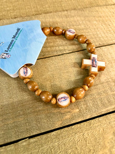 Bracelet - Our Lady of Gualalupe Wood