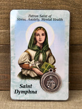 Load image into Gallery viewer, Healing Saint Prayer Card - St Dymphna