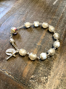 Bracelet - White Cat's Eye