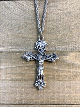Load image into Gallery viewer, Grapevine Crucifix Necklace