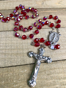 Rosary * Crystal Red