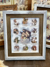 Load image into Gallery viewer, Our Father ( Padre Nostro) Italian Print in Two Tone Frame