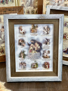 Our Father ( Padre Nostro) Italian Print in Two Tone Frame