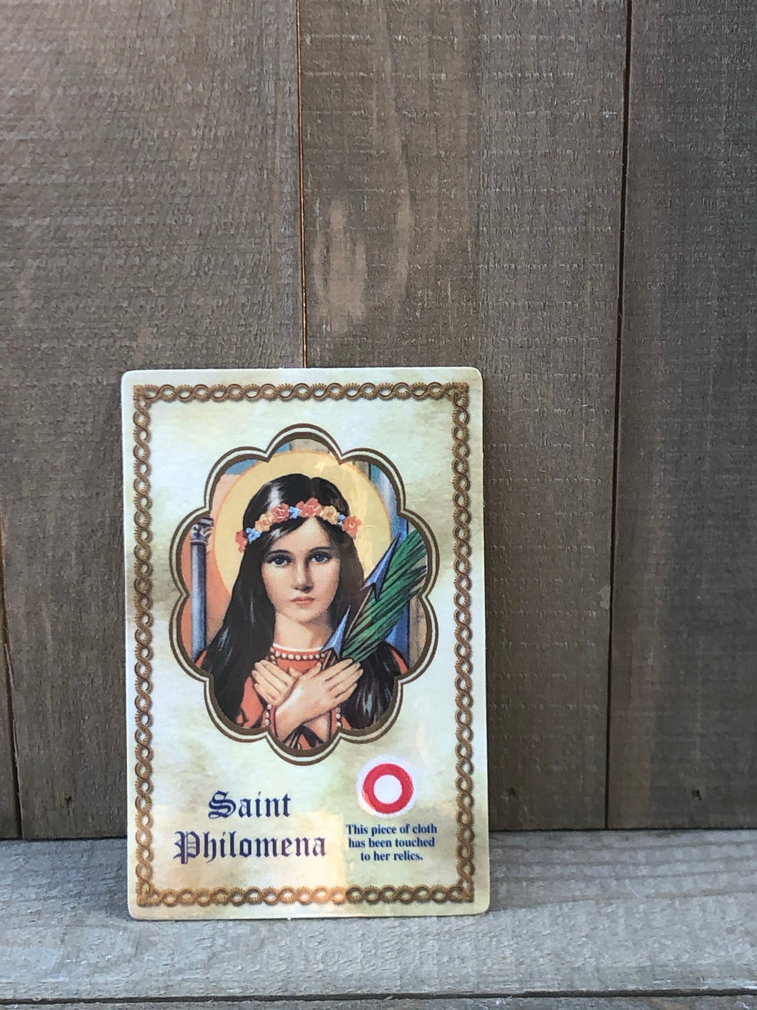 Relic Prayer Card - St Philomena