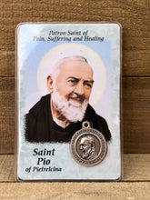 Load image into Gallery viewer, Healing Saint Prayer Card - Saint Pio of Pietrelcina