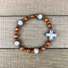Load image into Gallery viewer, Bracelet - Divine Mercy Wood