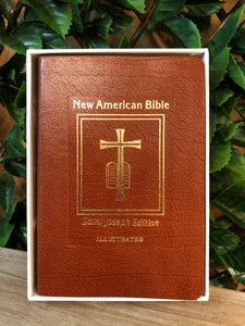 Saint Joseph Medium Size Bible-Brown