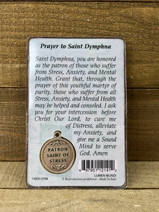 Healing Saint Prayer Card - St Dymphna