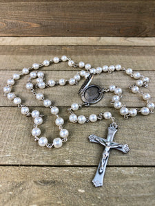 Rosary * Prayer Petition Locket/ Pearl