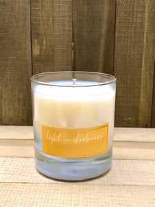 Corda Candle * LIGHT IN DARKNESS St. Dymphna | Ylang Ylang + Jasmine + Vetiver