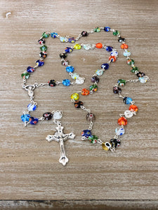 Rosary * Heart Shaped Multi Color beads