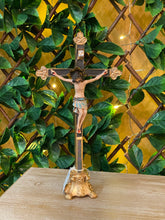 "Load image into Gallery viewer, Crucifix - Val Gardena 13"" Halo Christ"