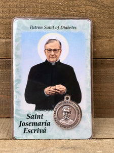 Healing Saint Prayer Card - Saint Josemaria Escriva