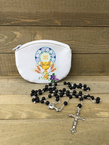 First Communion Rosary & Pouch * Boy's