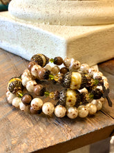 Load image into Gallery viewer, Bracelet - Vintage Rustic Brown Wrap Around Rosary