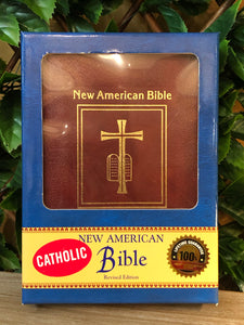Saint Joseph Edition of the New American Bible, Deluxe Edition, Red Bonded Leather
