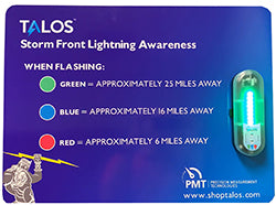 TALOS Safety Sign & Lightning Detector