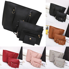 Load image into Gallery viewer, 4Pcs Women's handbag Litchi Pattern Leather