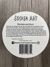 Load image into Gallery viewer, Mountain and Moon Sticker