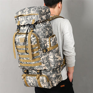 80L Waterproof Molle Camo Tactical Backpack