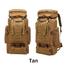 Load image into Gallery viewer, 80L Waterproof Molle Camo Tactical Backpack
