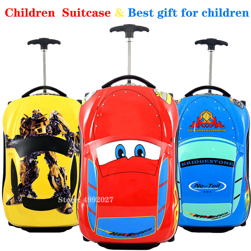 3D Kids Suitcase Car Travel Luggage Children Travel Trolley Suitcase for boys wheeled suitcase for kids Rolling luggage suitcase