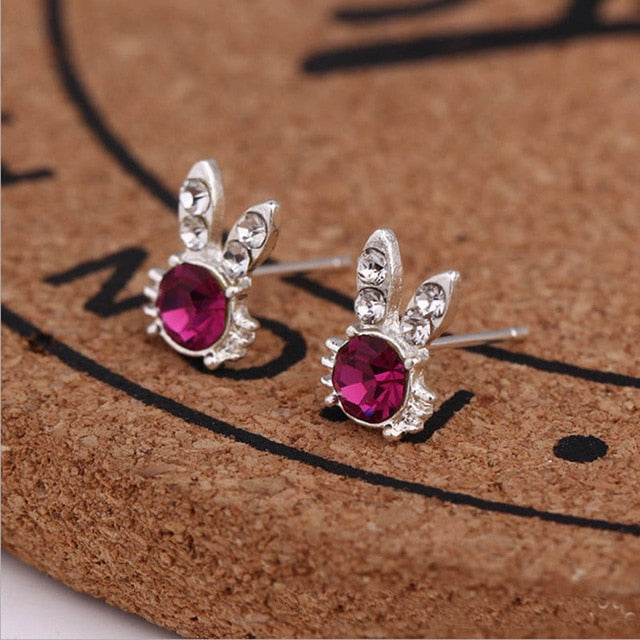 Women Exquisite Small Stud Earrings Crystal Simlated Pearl Earring For Women Fashion Jewelry pendientes Oorbellen Brincos